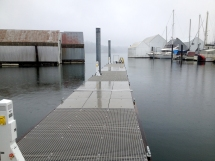 dock finished concrete w fiber grate