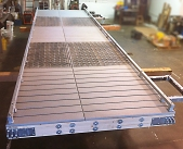 dock metal grate topping
