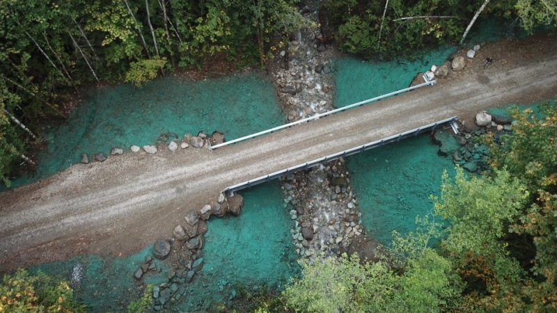 DNR Whallen Creek Bridge aerial